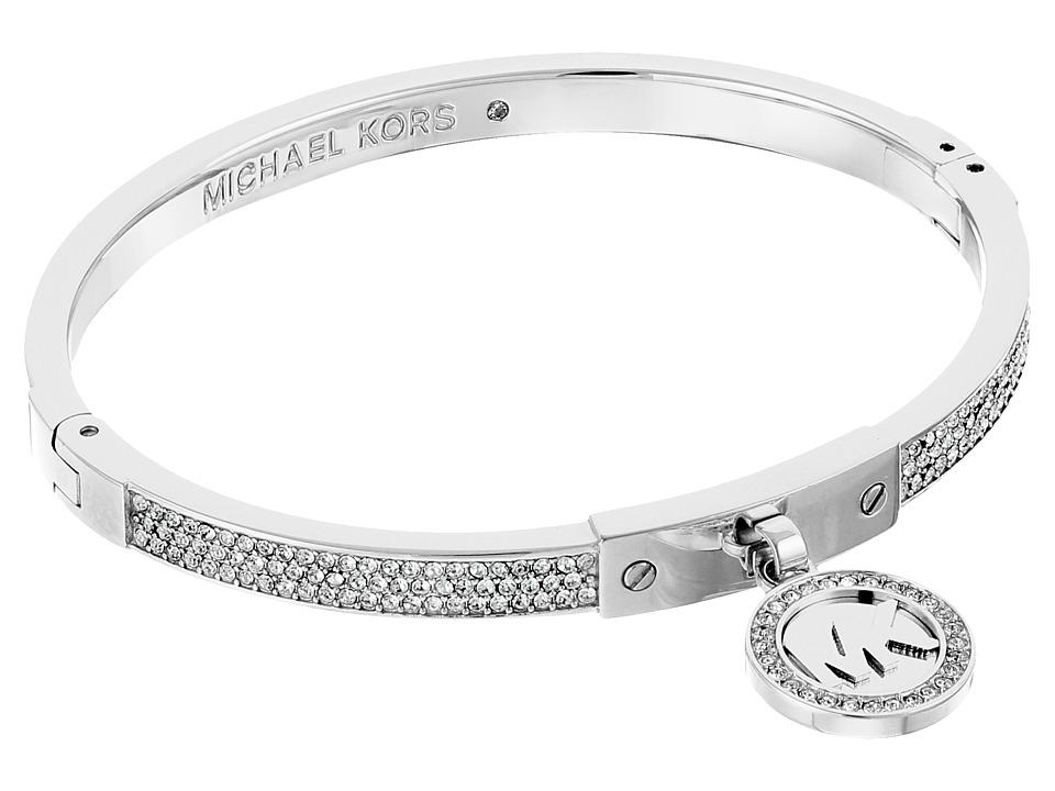 Michael Kors - Fulton Hinge Bracelet (Silver) Bracelet