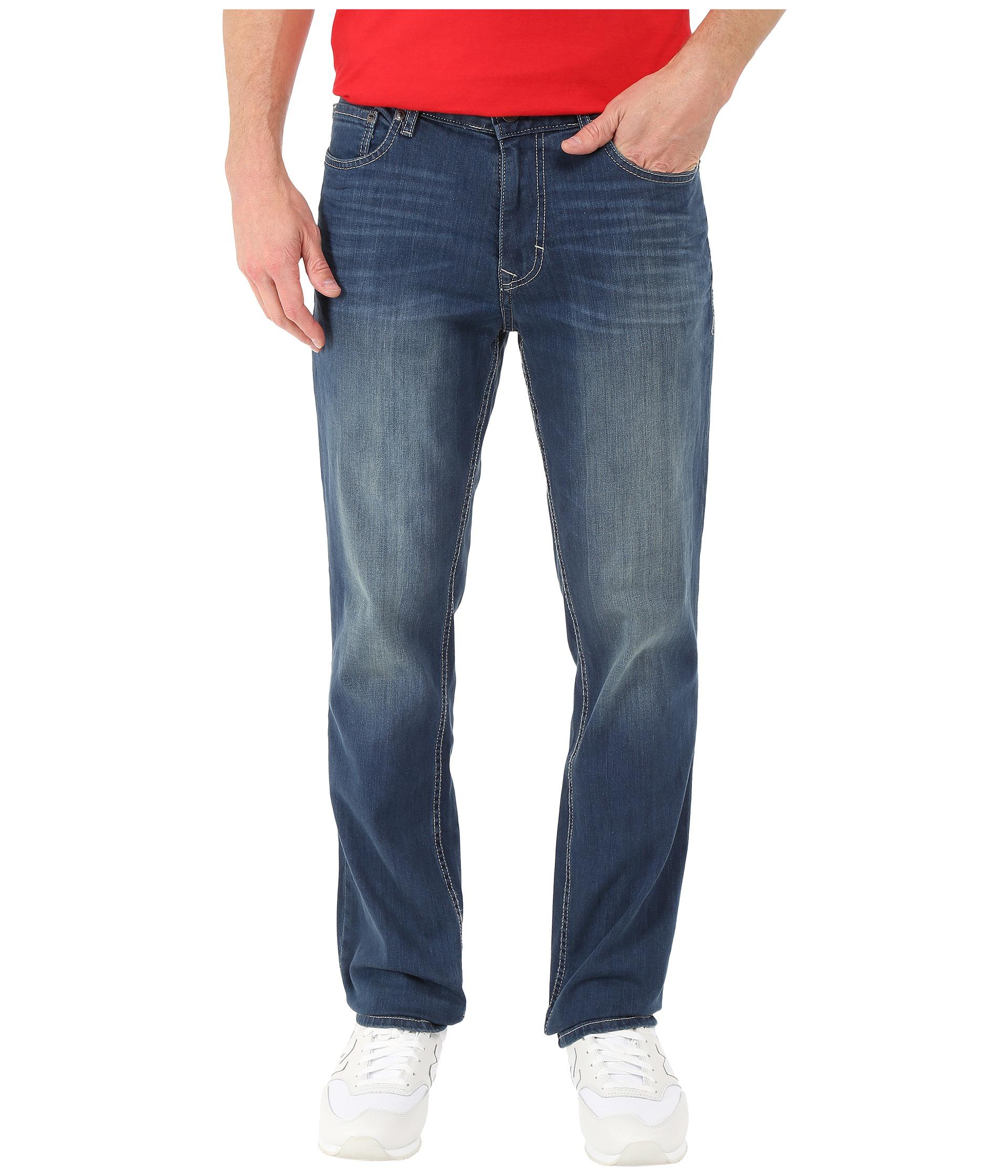 calvin klein jeans slim straight denim in authentic blue. Black Bedroom Furniture Sets. Home Design Ideas