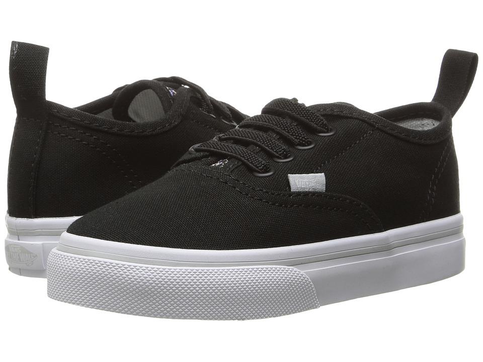 Vans Kids Authentic V Lace (Toddler) ((Glitter Pop) Black) Girls Shoes