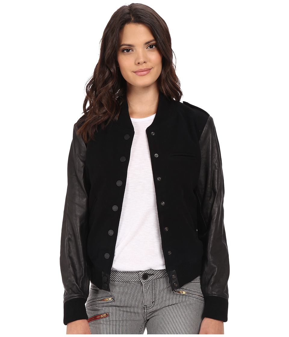 ETIENNE MARCEL EM7220 Black Bomber Jacket Black Womens Coat