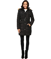Tommy Hilfiger - Belted Coat with Faux Fur Collar