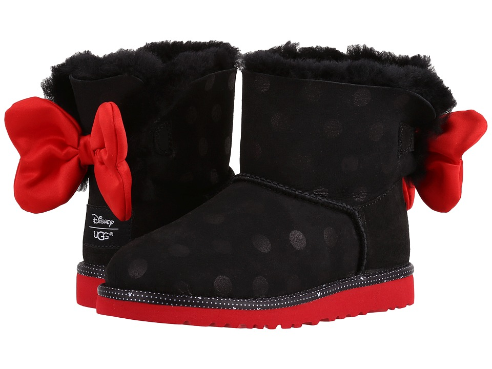 UGG Kids Sweetie Bow (Little Kid/Big Kid) (Black) Girl's Shoes