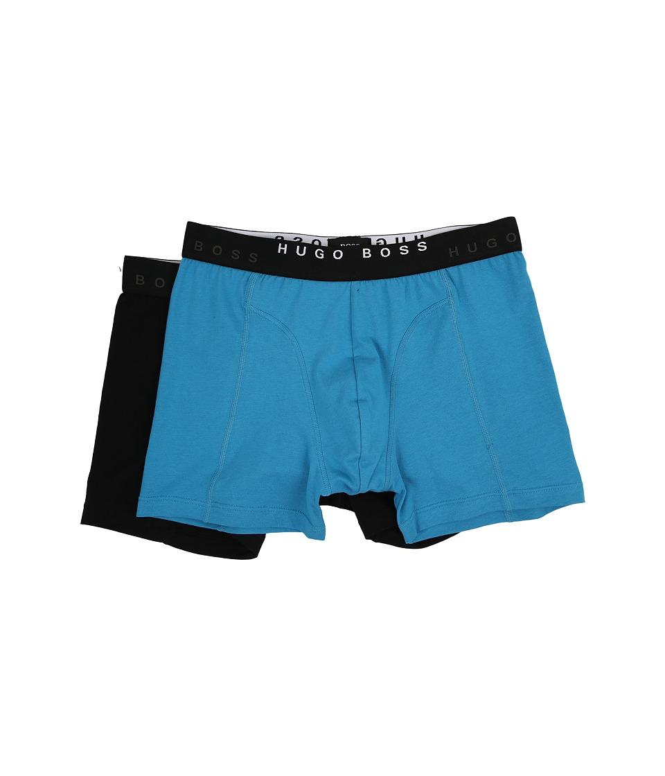 BOSS Hugo Boss Cyclist Solid 2 Pack Open Blue Mens Underwear
