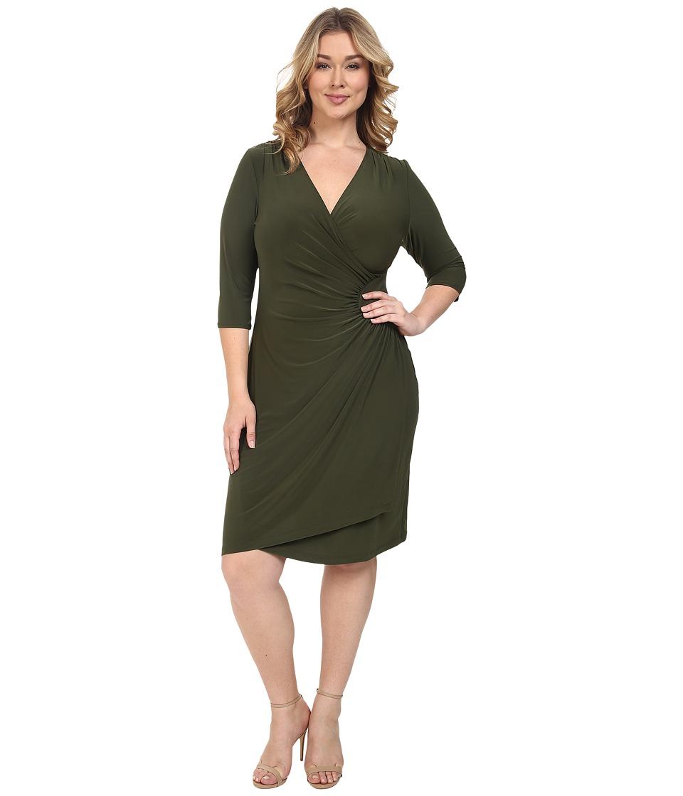 Kiyonna Ciara Cinch Dress (Olive) Women