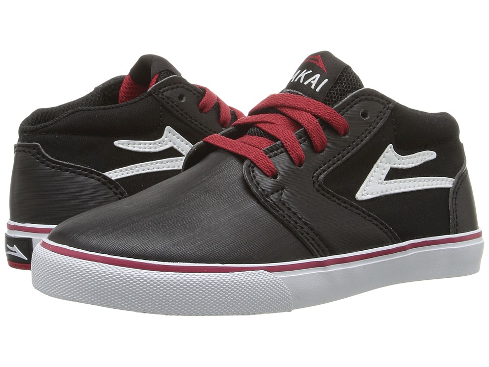 Lakai Fura High (Little Kid/Big Kid) (Black/White Synthetic) Men