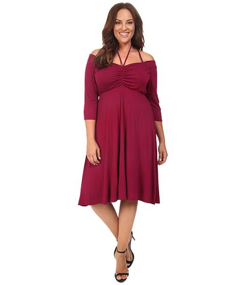 Kiyonna - Enticing Tie Dress (Raspberry Romance) Women's Dress