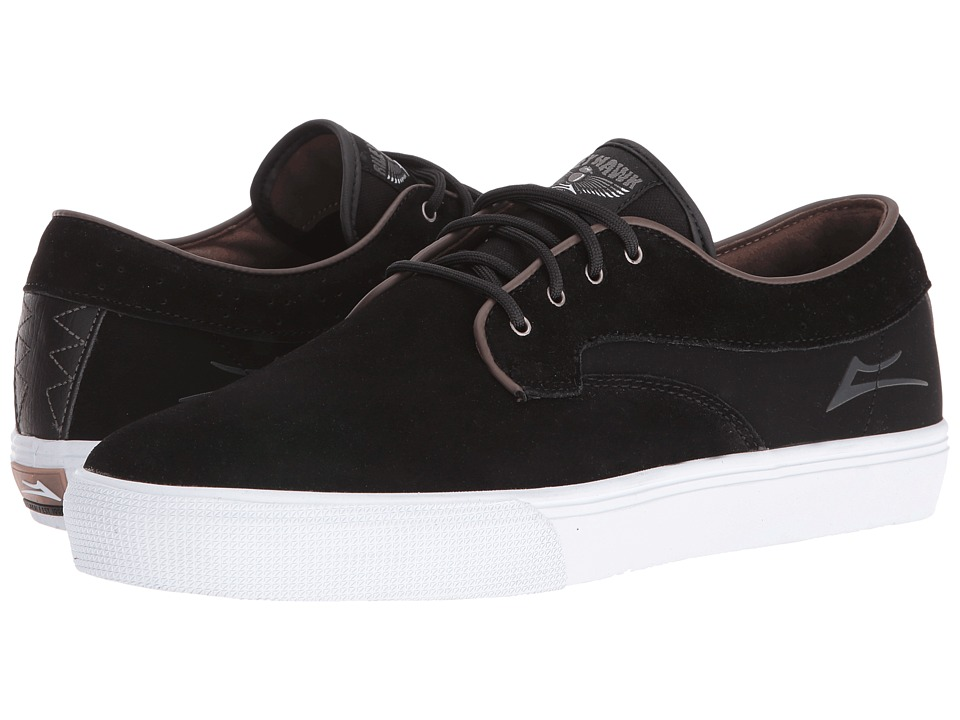 Lakai Riley Hawk (Black Suede/Brown) Men
