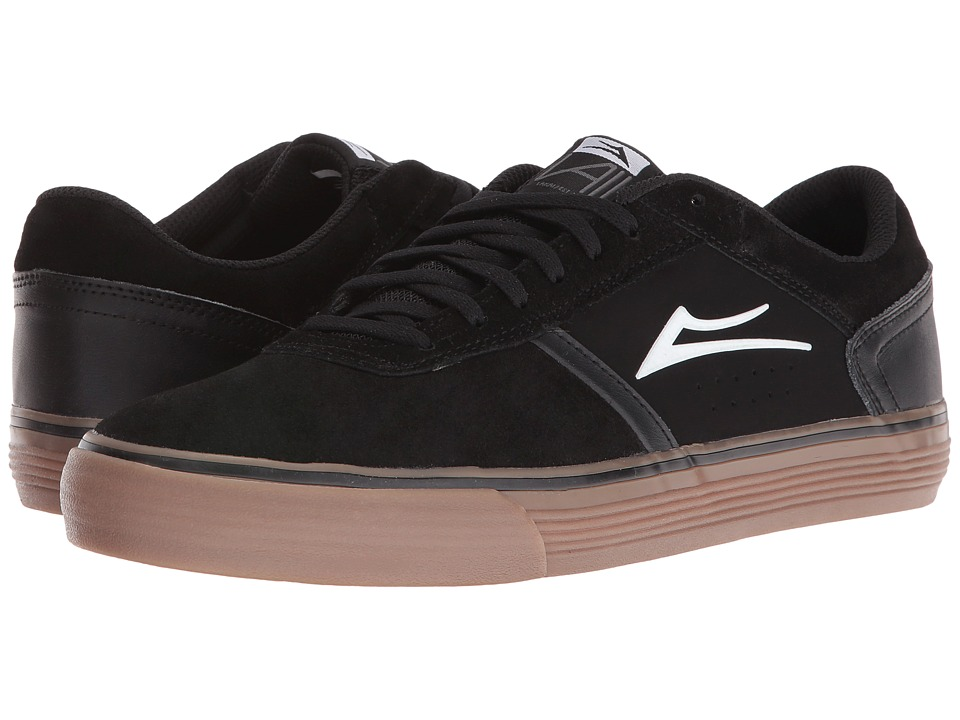 Lakai Vincent 2 (Black/Gum Suede) Men