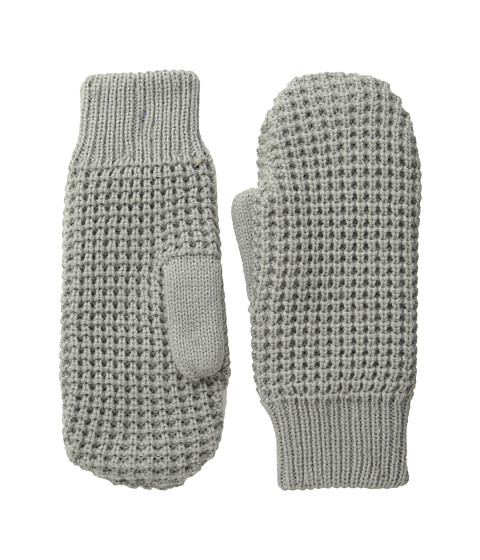 Hat Attack Waffle Stitch Mitten with Lining - Light Grey