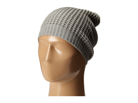 Hat Attack Waffle Stitch Slouchy - Light Grey