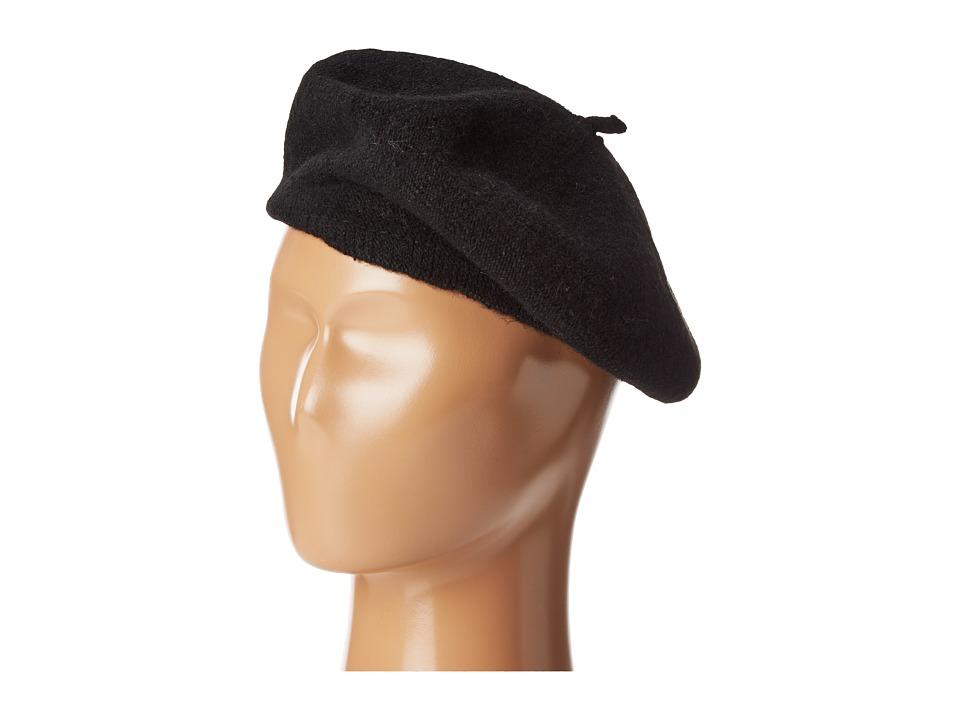 1940s Hats History Hat Attack - Wool Beret Black Berets $32.00 AT vintagedancer.com