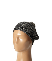 Hat Attack - Tweed Knit Beret with Pom
