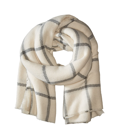 Hat Attack Windowpane Scarf - Ivory/Grey