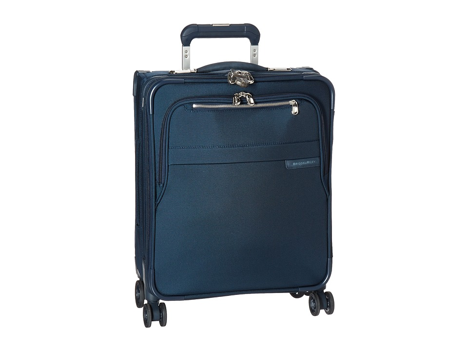 Briggs & Riley Baseline International Carry-On Expandable Wide-Body Spinner (Navy Blue) Carry on Luggage