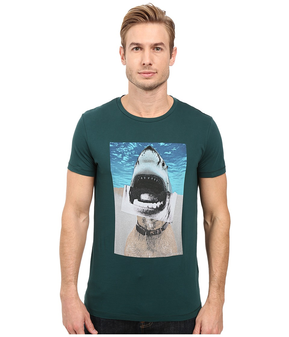 BOSS Orange - Treyno 1 Shark Dog Pima Cotton T-Shirt (Green) Men