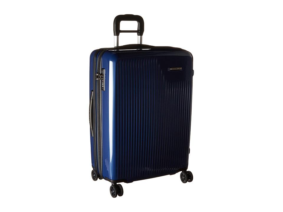 Briggs & Riley - Sympatico - Medium Expandable Spinner (Marine Blue) Luggage