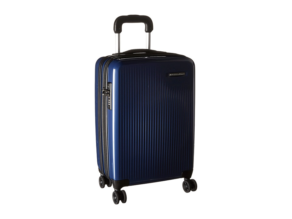Briggs & Riley - Sympatico - International Carry-On Expandable Spinner (Marine Blue) Luggage