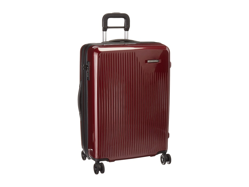 Briggs & Riley - Sympatico - Medium Expandable Spinner (Burgundy) Luggage