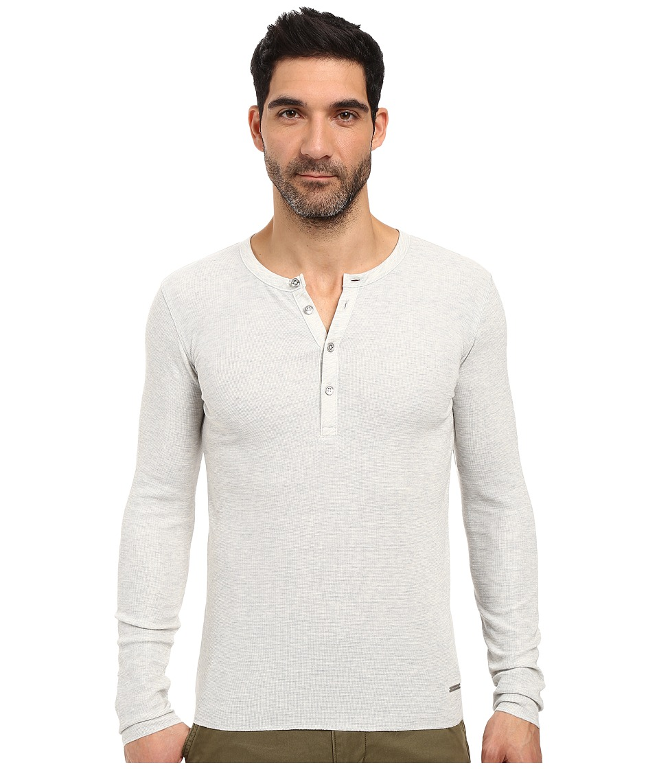 BOSS Orange - Topsider Heather Waffle Henley (Grey) Men