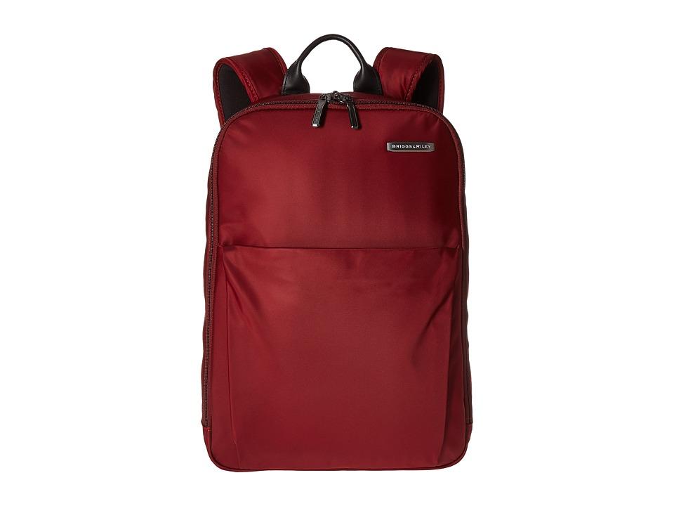 Briggs & Riley - Sympatico - Backpack (Burgundy) Backpack Bags