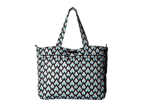 Ju-Ju-Be Onyx Collection Super Be Zippered Tote Diaper Bag - Black Diamond