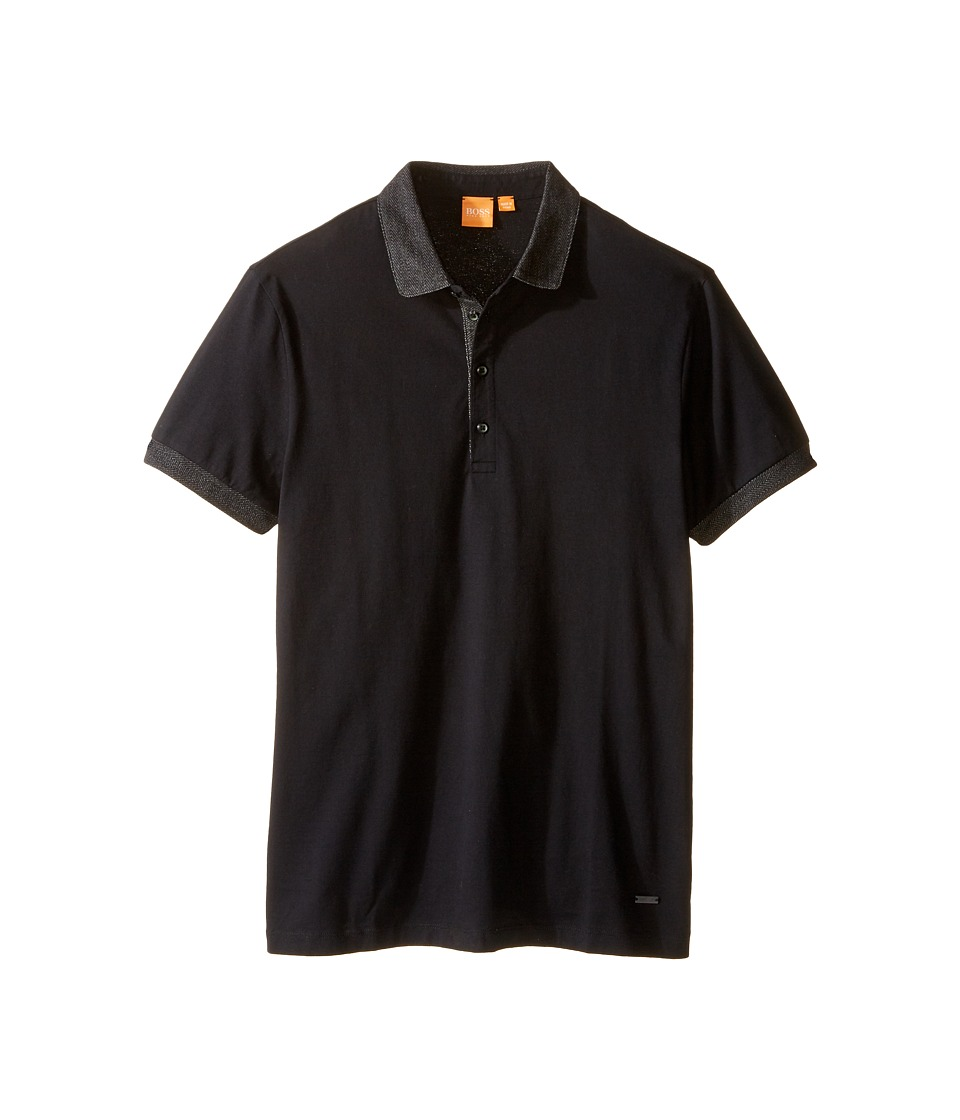 BOSS Orange - Pinto Herringbone Short Sleeved T-Shirt (Black) Men