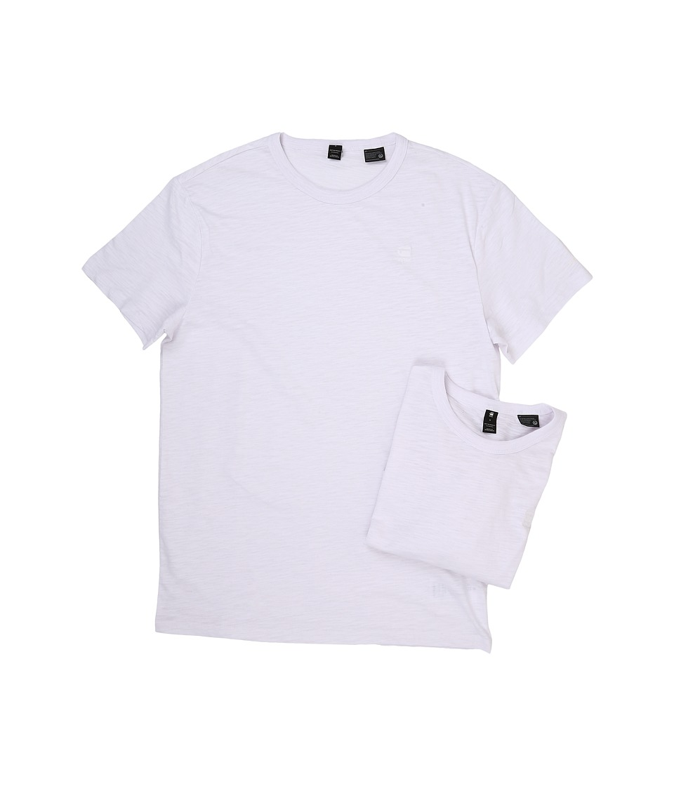 G-Star 2-Pack Base Crew Neck Short Sleeve Tee in Jisoe Jersey (White) Men