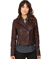 Levi's® - Faux Leather Asymmetrical Motorcycle Jacket with Quilted Arms