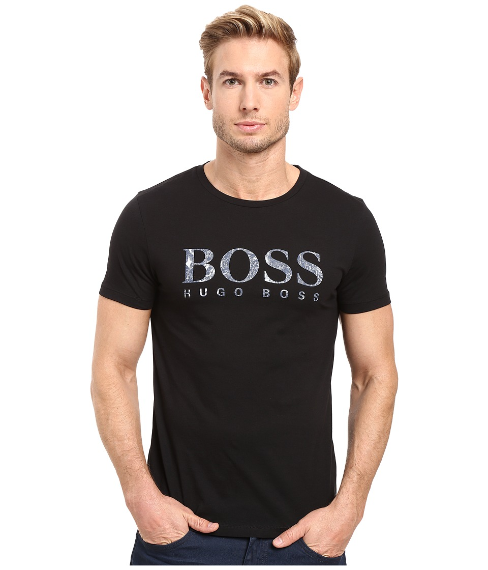 BOSS Orange - Tommi 3 Printed T-Shirt (Black) Men