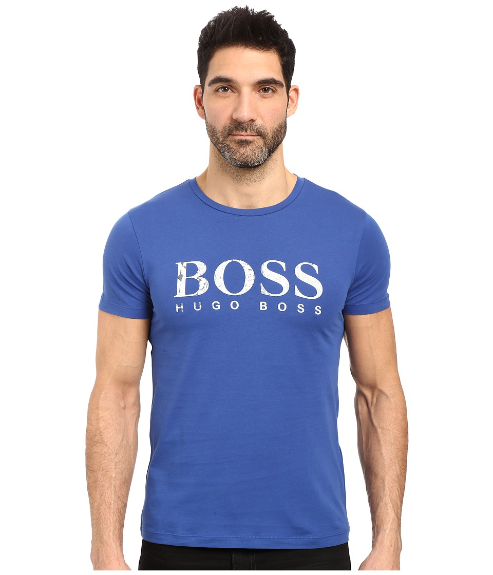BOSS Orange - Tommi 3 Printed T-Shirt (Blue) Men