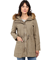 Levi's® - Washed Cotton Fashion Heavyweight Parka w/ Sherpa Lining and Fur Hood