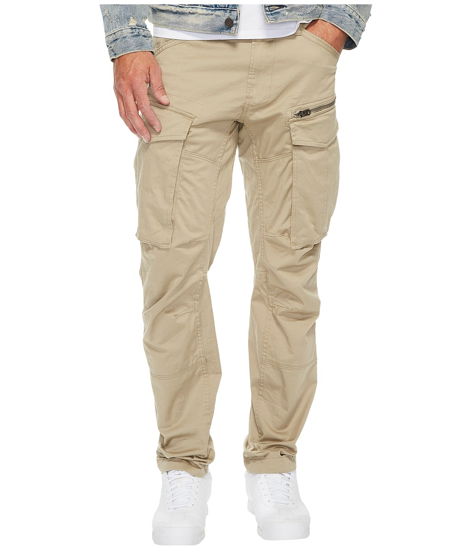 G-Star - Rovic Zip 3D Tapered Fit Pants in Premium Micro Stretch Twill Dune (Dune) Mens Casual Pants