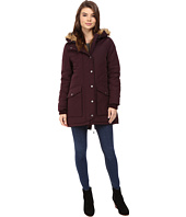 Levi's® - Poly/Artic Full Length Filled Parka with Fur Trim On Hood and Front Panels