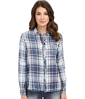 G-Star - Tacoma One-Pocket Boyfriend Shirt in Indigo Lirt Flannel Check