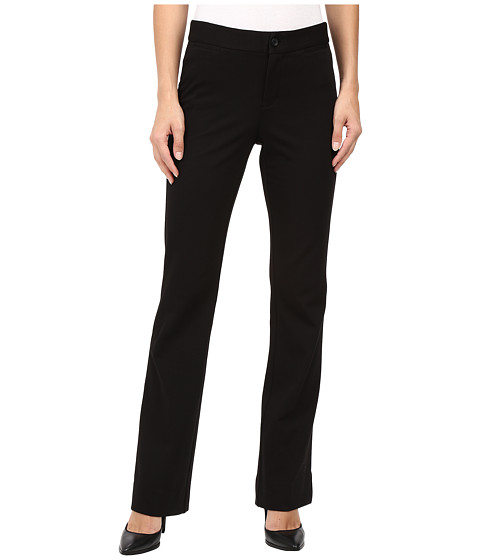 NYDJ Teresa Modern Trousers in Stretch Twill - Black