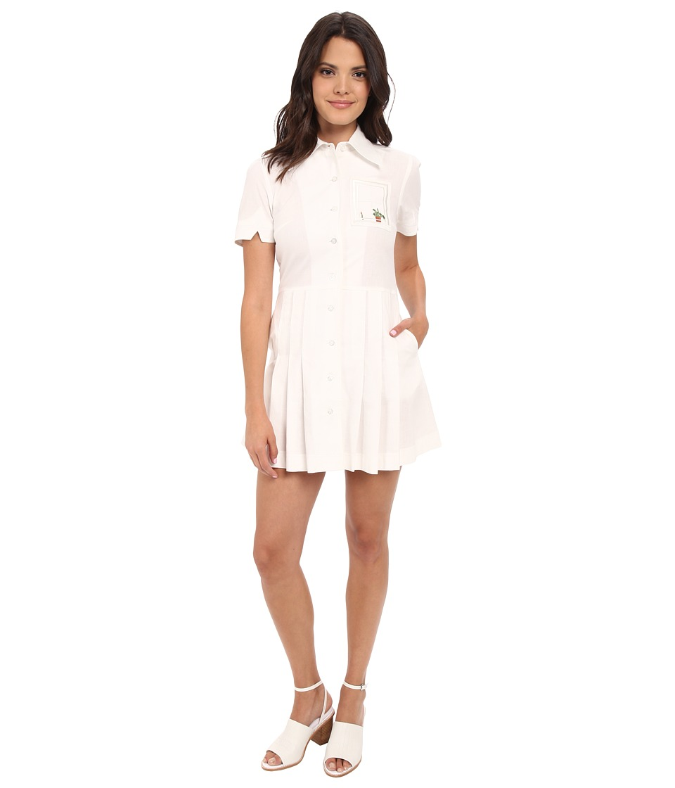 Samantha Pleet Window Dress Ivory Womens Dress