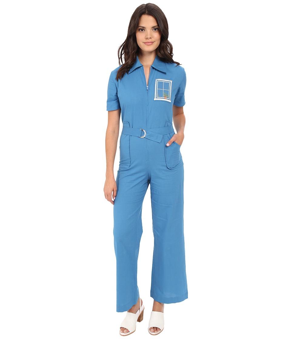 Samantha Pleet House Jumpsuit Blue Womens Jumpsuit Rompers One Piece