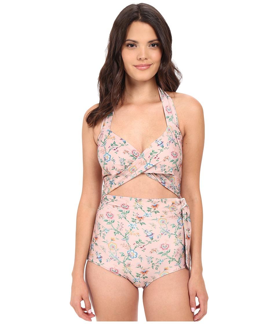 Samantha Pleet Whirl Swimsuit Pinkwall Womens Swimsuits One Piece