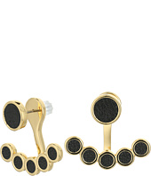 Rebecca Minkoff - Leather Inlet Ear Jacket Earrings