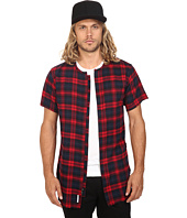 Publish - Jerrick - Plaid Flannel Short Sleeve Zip-Up Woven