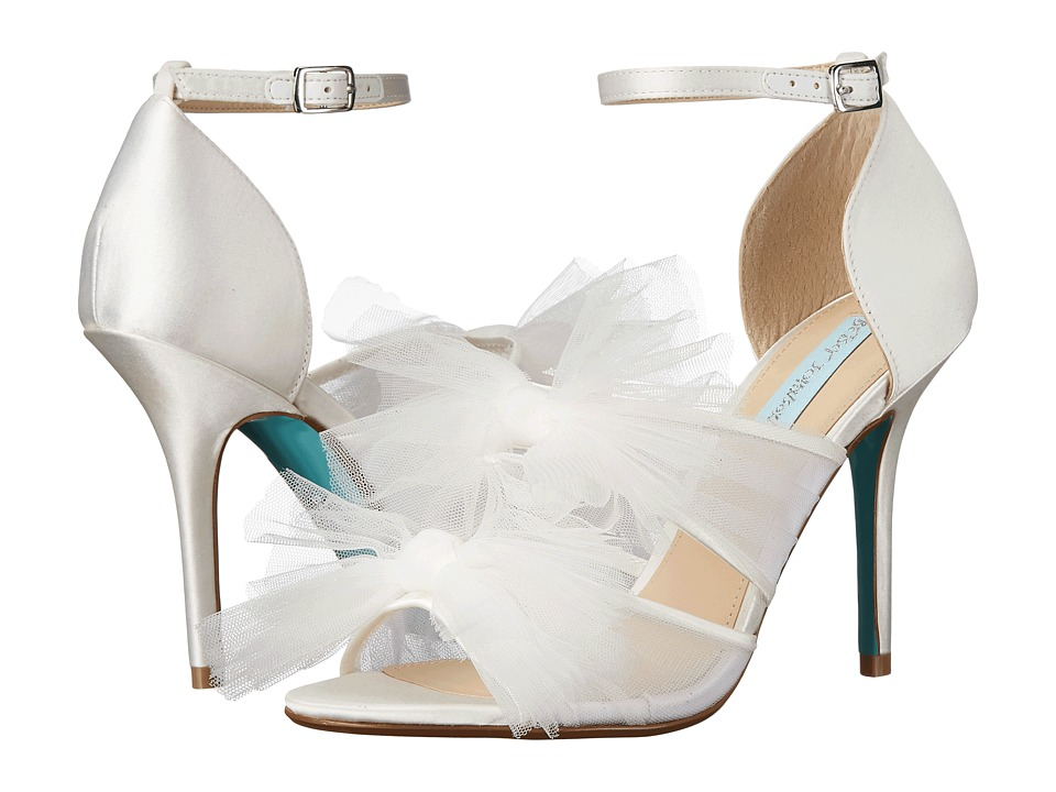 Blue by Betsey Johnson - Big (Ivory Satin) High Heels