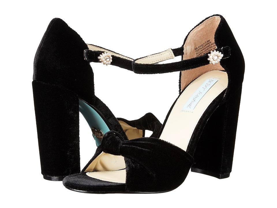 Blue by Betsey Johnson - Ansly (Black Velvet) High Heels