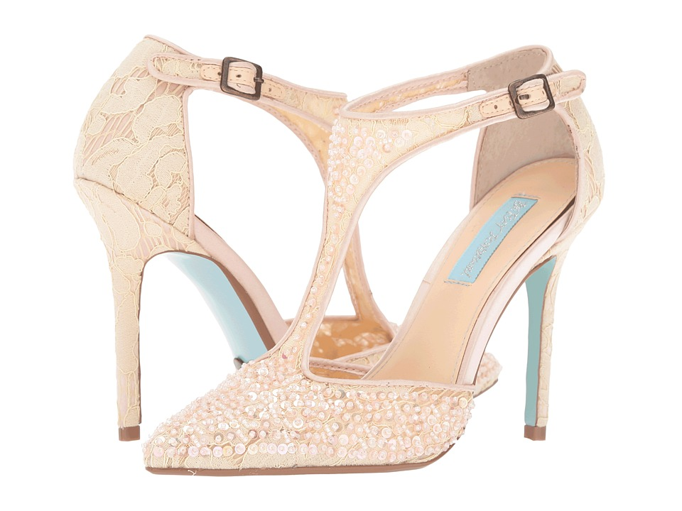 Blue by Betsey Johnson - Eliza (Champagne Fabric) High Heels