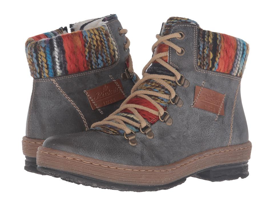Rieker - Z6743 (Basalt/Nuss/Orange Multi) Womens  Boots