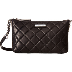 Calvin Klein Chelsea Quilted Leather Crossbody (Black/Silver)
