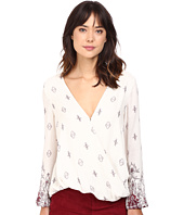 The Jetset Diaries - Enija Print Surplice Top
