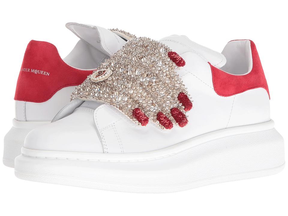 Alexander McQueen-Sneake Pelle S.Gomma  (Black-Multi-Red-Ivory) Womens Hook and Loop Shoes