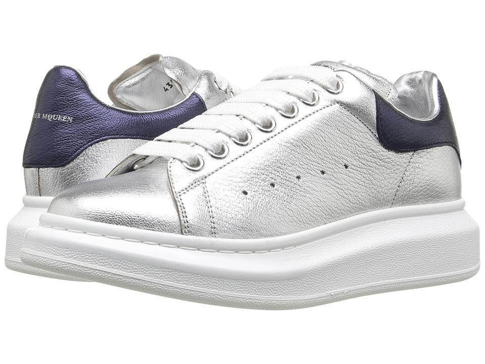 Alexander McQueen - Sneake Pelle S.Gomma (Silver 141/Navy 163) Women