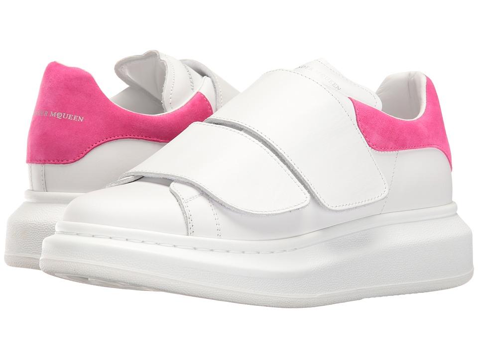 Alexander McQueen Sneaker Pelle S.Gomma (White/Shocking Pink) Women