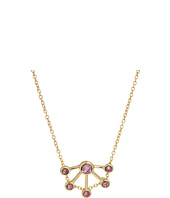 Rebecca Minkoff - Gem Stone Fan Pendant Necklace